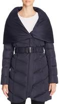 T Tahari Matilda Belted Puffer Coat