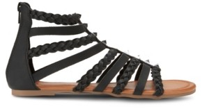 OLIVIA MILLER Btw Braided Strap Sandals Women's Shoes