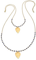 Heather Hawkins Lotus Crush Gemstone Necklace - Multiple Colors