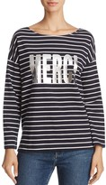 French Connection Merci Long-Sleeve Graphic Tee