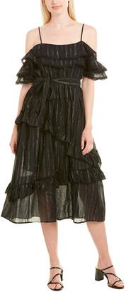 Allison Ruffle Midi Dress
