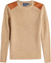 Polo Ralph Lauren Merino Wool Pullover with Leather