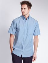 Marks and Spencer Short Sleeve Easy to Iron Regular Fit Shirt