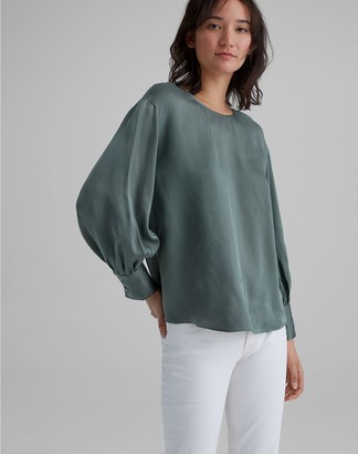 Club Monaco Balloon Sleeve Blouse