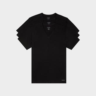 Calvin Klein Men's Cotton Classic Fit V-Neck T-Shirts (3 Pack)