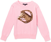 E-Land Kids Light Pink Horse Sweater - Toddler & Girls