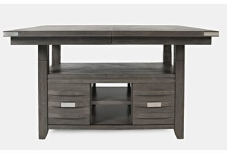 Bronx Ivy Berea Counter Height Extendable Dining Table Ivy Color: Brushed Gray