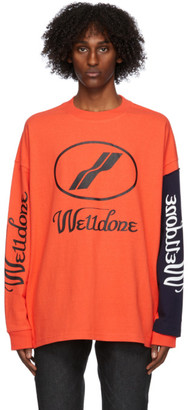 we11done Orange Remake Logo T-Shirt