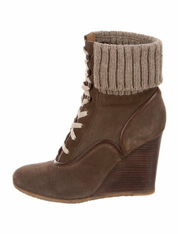 Lace Up Wedge Ankle Boots   Shop the