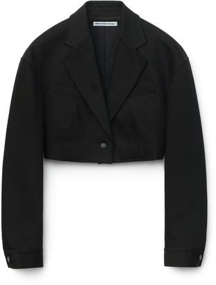 Alexander Wang Cropped Denim Blazer