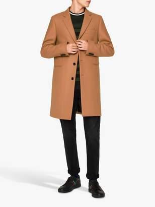 Paul Smith Wool Blend Overcoat, Camel