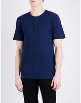 The Kooples Henley Cotton-piqué T-shirt