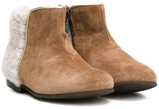 Pépé Contrast Panel Ankle Boots