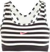 Nike Pro Classic Dri-FIT striped stretch-jersey sports bra