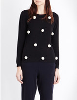 Chinti and Parker Pom pom cashmere jumper