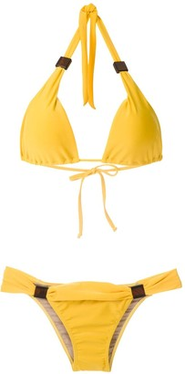 Adriana Degreas Applique Triangle Bikini Set