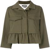 Odeeh boxy cropped sleeve jacket - women - Cotton/Spandex/Elastane/Lyocell - 34