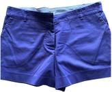 Maje Purple Cotton Shorts for Women