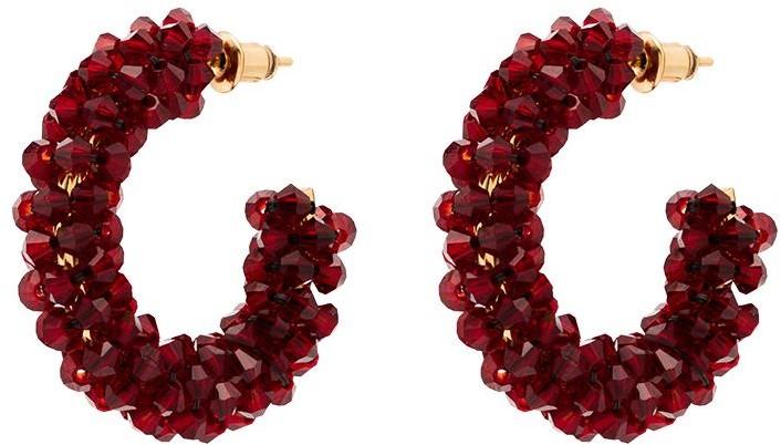 Thumbnail for your product : Simone Rocha Crystal-Embellished Hoop Earrings