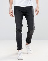 Weekday Friday Skinny Jeans Black Coal