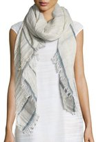 Peserico Linen Grid Pattern Scarf