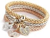Celendi 3pcs Charm Women's racelet Gold Silver Rose Gold Rhinestone angle Refinement Jewelry Set