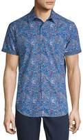 Robert Graham Men's Paisley-Print Cotton Button-Down Shirt