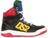 DSQUARED2 Ds2 Leather High Top Sneakers