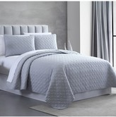 Modern Threads Queen Enzyme Washed Diamond Link Quilted Coverlet 3-Piece Set - Gray