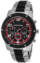 Michael Kors MK8474 Men's Caine Chronograph Stainless Steel & Black Rubber