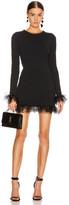Saint Laurent Long Sleeve Tulle Mini Dress in Black | FWRD