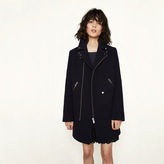 Maje Biker-style wool coat