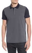BOSS Men's Slim Fit Micro Pattern Polo