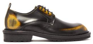 Ann Demeulemeester Antiqued Leather Derby Shoes - Womens - Black Multi