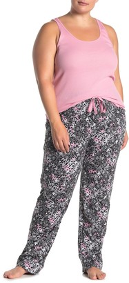 Joe Fresh Racerback Tank Top & Floral Pants Pajama 2-Piece Set (Plus Size)