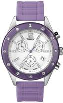 Timex Women's Elevated Classics T2N832 Purple Silicone Analog Quartz Watch with Dial