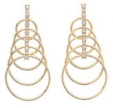 Charlotte Russe Tiered Circle Earrings