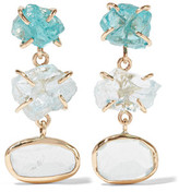Melissa Joy Manning 14-Karat Gold, Aquamarine And Apatite Earrings