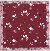 Valentino Floral print silk twill scarf
