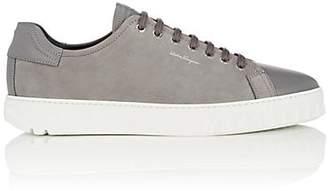 Salvatore Ferragamo Men's Cube Leather & Nubuck Sneakers - Light Gray