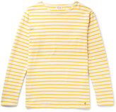 Armor Lux Striped Cotton-jersey T-shirt - Yellow