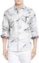 Robert Graham Canyons Long Sleeve Tailored Fit Leaf Print Sport Shirt