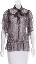 Anna Sui Metallic Silk Top