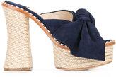 Paloma Barceló Monaco sandals - women - Leather/Suede/Straw - 36