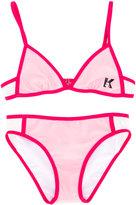 Karl Lagerfeld color block bikini