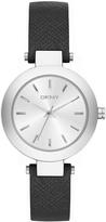 DKNY Stanhope Black Saffiano Leather Watch