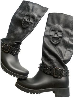 Philipp Plein \N Black Leather Boots