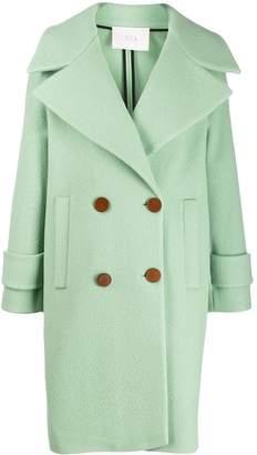 Tela felt double-breasted coat