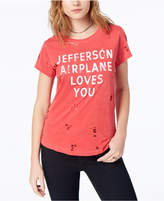 Lucky Brand Cotton Ripped Jefferson-Graphic T-Shirt, Created for Macy's