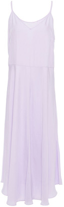 Vince Satin-twill Midi Dress
